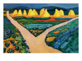 Vegetable Fields Posters by Auguste Macke