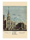 Symbols - Masonic Hall - Philadelphia Poster