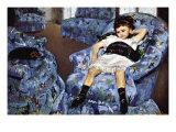 Small Girl In Blue Posters par Mary Cassatt
