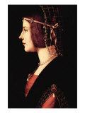 Lady Beatrice D'Este Print by  Leonardo da Vinci