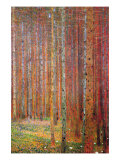 Bór sosnowy Poster autor Gustav Klimt