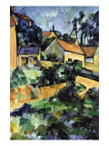 Road Curve In Montgerout Print by Paul Cézanne