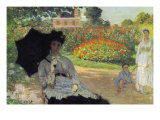 Camille In The Garden with Jean and His Nanny Prints by Claude Monet
