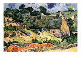 Shelters In Cordeville Prints by Vincent van Gogh