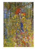 Farmers Garden with Crucifix Prints by Gustav Klimt