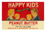 Happy Kids Peanut Butter Posters