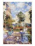 In a French Garden Art by Childe Hassam