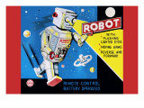 Robot with Flashing Lighted Eyes Prints