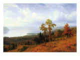 View of The Hudson River Valley Print by Albert Bierstadt