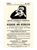 Dref's Headache Powders Posters