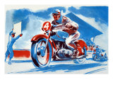 No. 4 Motorcycle Print