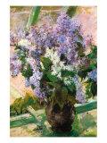 Flowers In The Window Kunstdruck von Mary Cassatt