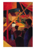 Tightrope Print by Auguste Macke