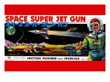 Space Super Jet Gun Art