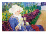 Lydia In The Garden of Marly Prints by Mary Cassatt