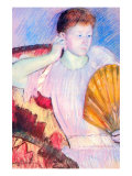 Lady with a Fan Poster by Mary Cassatt