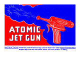 Atomic Jet-Gun Prints