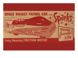 Space Rocket Patrol Car Posters