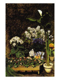 Mixed Spring Flowers Poster von Pierre-Auguste Renoir