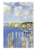 Port of Gloucester Island Print by Childe Hassam