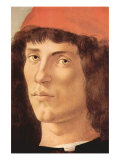 Portrait of a Young Man with Red Cap Prints by Sandro Botticelli