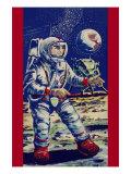 Moon Astronaut Print