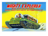 Mighty Explorer with Piston Action Posters