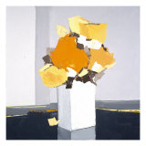 Fleurs Oranges Poster by  Monestier