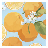 Fresh Oranges Stampe di Martha Negley