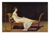 Portrait of Madame Rmier Poster av Jacques-Louis David