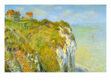 Cliffs Prints by Claude Monet