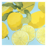Fresh Lemons Poster di Martha Negley