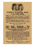 Glenn's Sulphur Soap Is The Leading Remedy Print