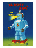 Flashy Jim - The Robot Posters
