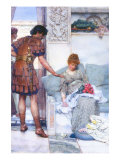 A Quiet Greeting Poster by Sir Lawrence Alma-Tadema