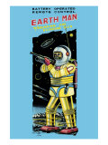 Battery Operated Remote Control Earthman Prints