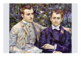 Portrait of Charles and George Posters by Pierre-Auguste Renoir