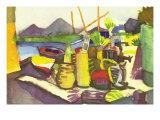 Landscape At Hammamet Prints by Auguste Macke
