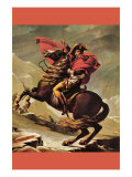 Napoleon Crosses The Great St. Bernard Pass Posters by Jacques-Louis David