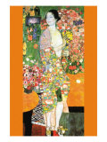 The Dancer Print van Gustav Klimt