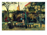 Terrace of a Cafe Poster por Vincent van Gogh
