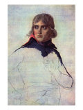 Portrait of General Napoleon Bonaparte Affischer av Jacques-Louis David