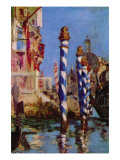 Grand Canal In Venice Poster by Édouard Manet