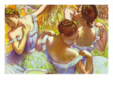 Dancer In Blue Posters by Edgar Degas