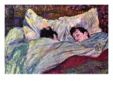 Sleeping Art Print by Henri de Toulouse-Lautrec