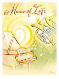 Life's Music Giclée-tryk af Flavia Weedn