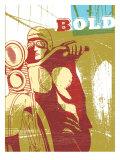 Bold Motorcyclist Print by Bessie Pease Gutmann