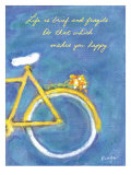 Makes You Happy Print by Flavia Weedn