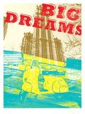 Modern Vespa Big City Dreams Print Pósters