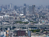 View of Central Osaka City from Atop the World Trade Center (Wtc) on Sakishima Island, Osaka, Japan Photographic Print